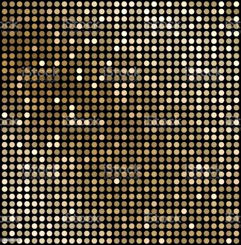 Abstract gold mosaic background vector art illustration