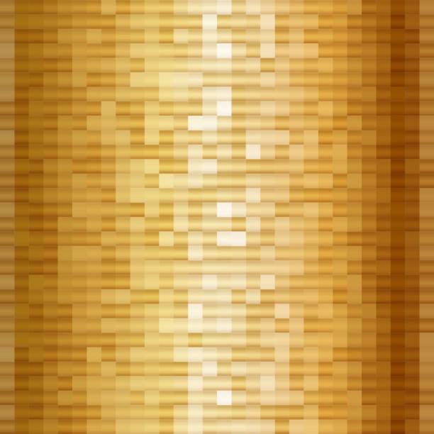 abstrakt gold mosaik quadrate. schimmernde geometrische muster. - spiegelfliesen stock-grafiken, -clipart, -cartoons und -symbole