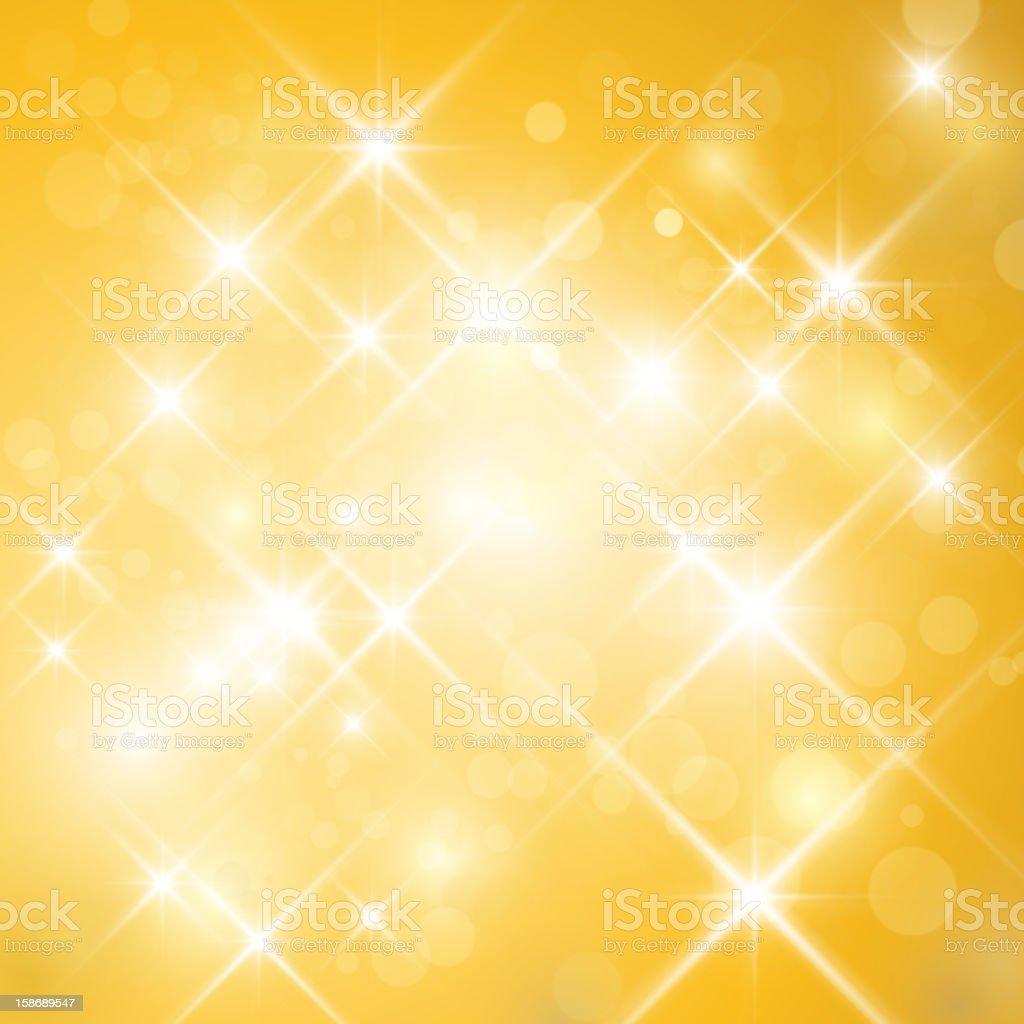 Abstract gold twinkle backdrop vector art illustration