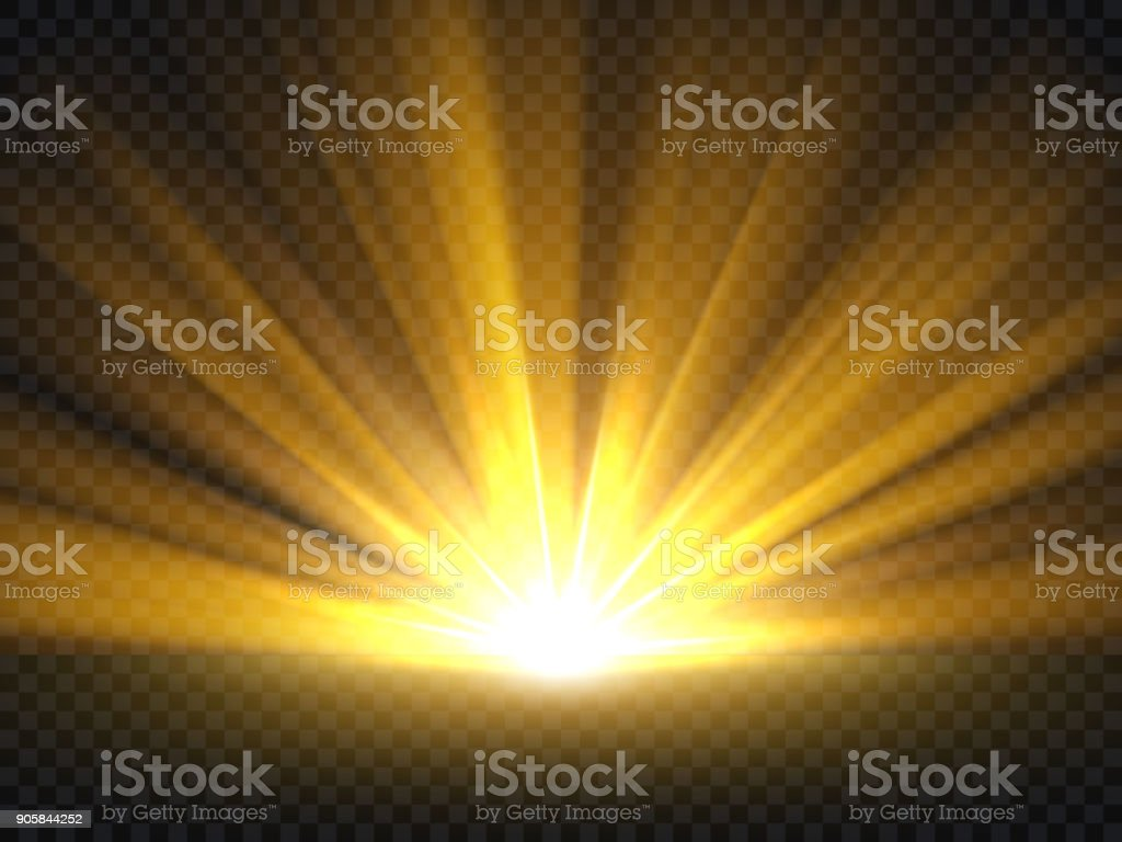 Abstract golden bright light. Gold shine burst vector illustration isolated vector art illustration