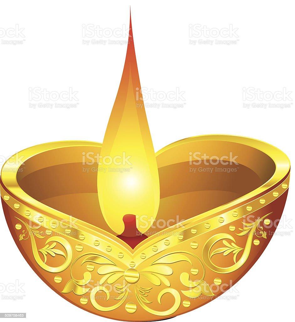 Abstract Golden Diwali Deepak Stock Vector Art & More ...  Abstract Golden...