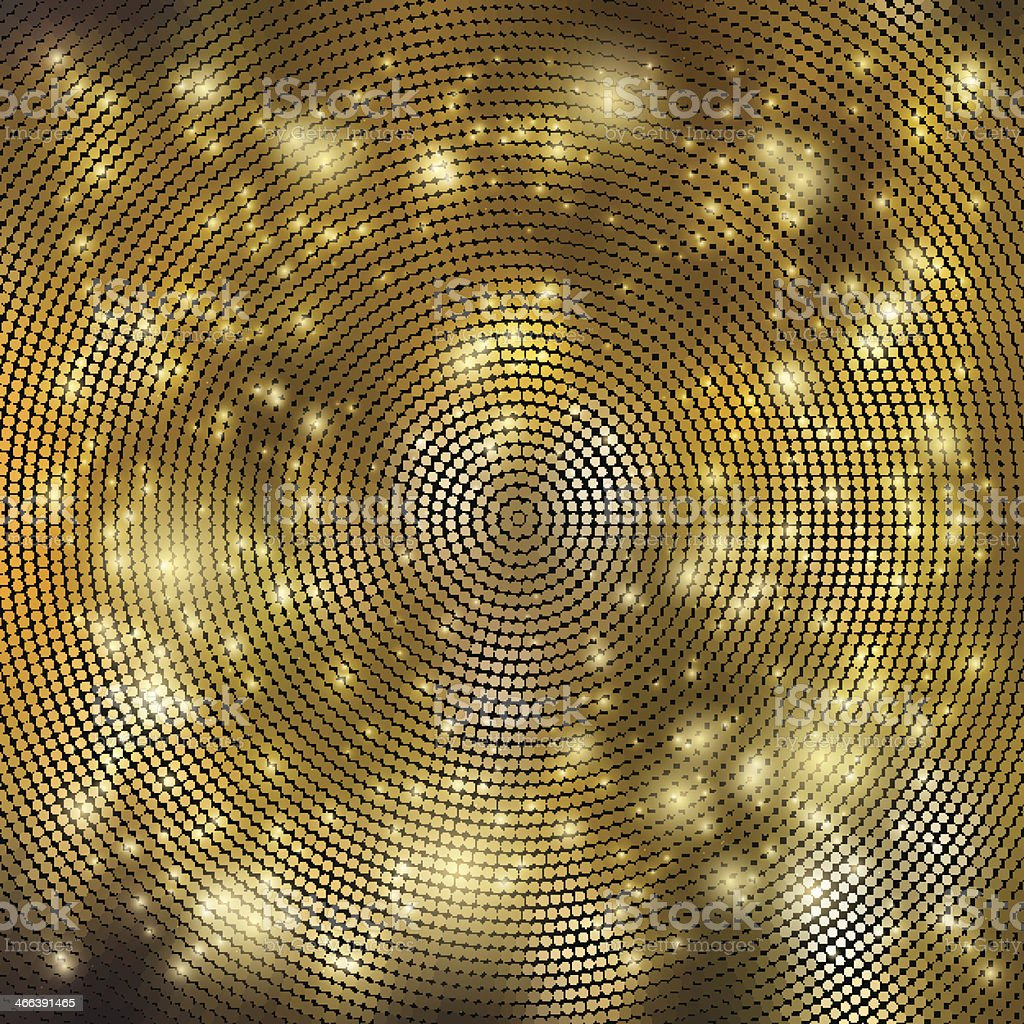 Abstract golden fractal background vector art illustration