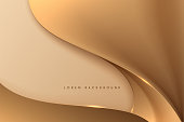Abstract golden smooth wave background in vector