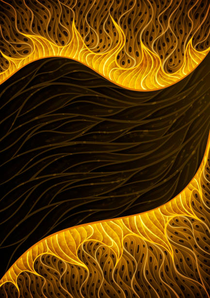 Abstract golden stream background illustration vector art illustration