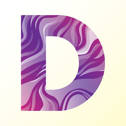 abstract gradation wave pattern alphabets vector illustration