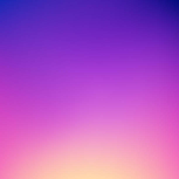 abstract gradient background: dreamy dusk colors - zachód słońca stock illustrations