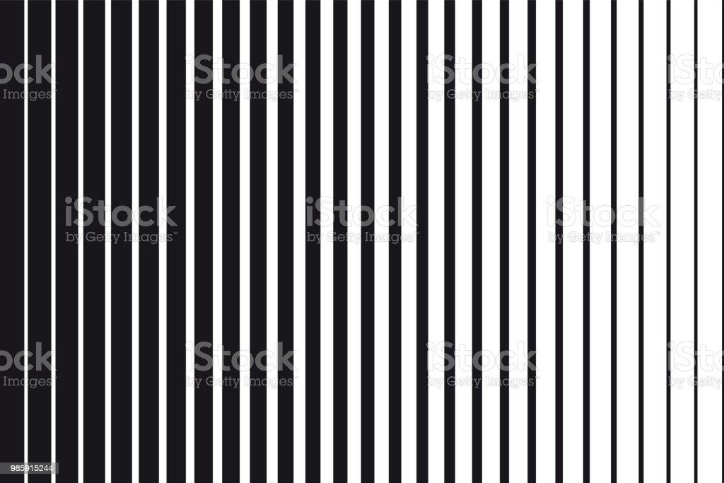Abstrakta tonad bakgrund av svarta och vita parallella vertikala linjer - Royaltyfri Abstrakt vektorgrafik