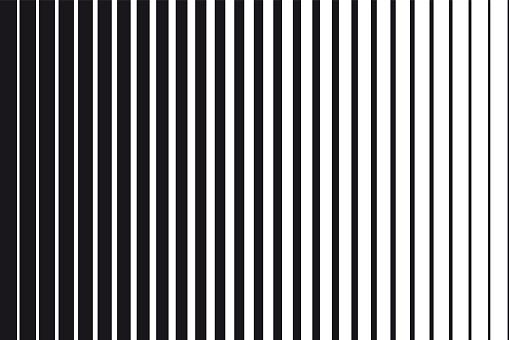 Abstrakta Tonad Bakgrund Av Svarta Och Vita Parallella Vertikala Linjer-vektorgrafik och fler bilder på Abstrakt