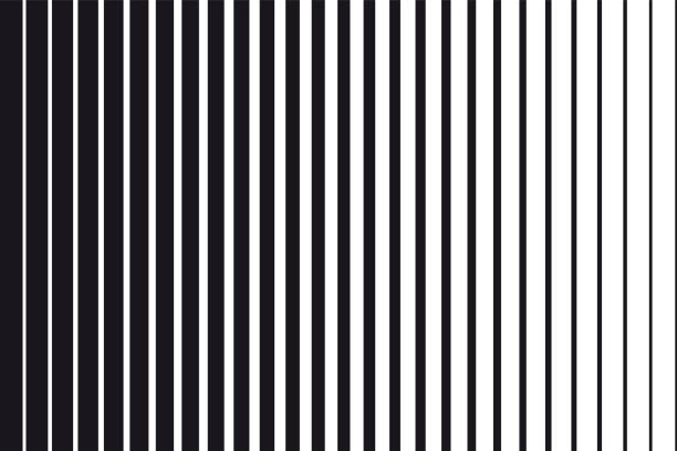 Abstract gradient background of black and white parallel vertical lines Abstract gradient background of black and white parallel vertical lines in a row stock illustrations