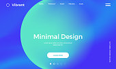 Abstract gradient background. Minimal modern design. Landing page template. Vector illustration. Eps10