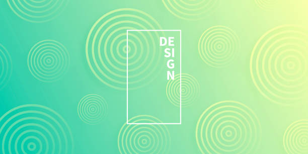 Abstract gradient background with Green circles vector art illustration