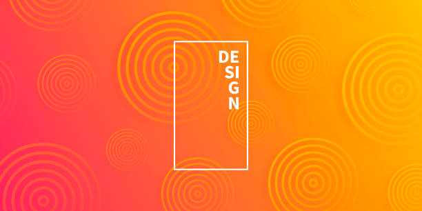 Abstract gradient background with Orange circles vector art illustration