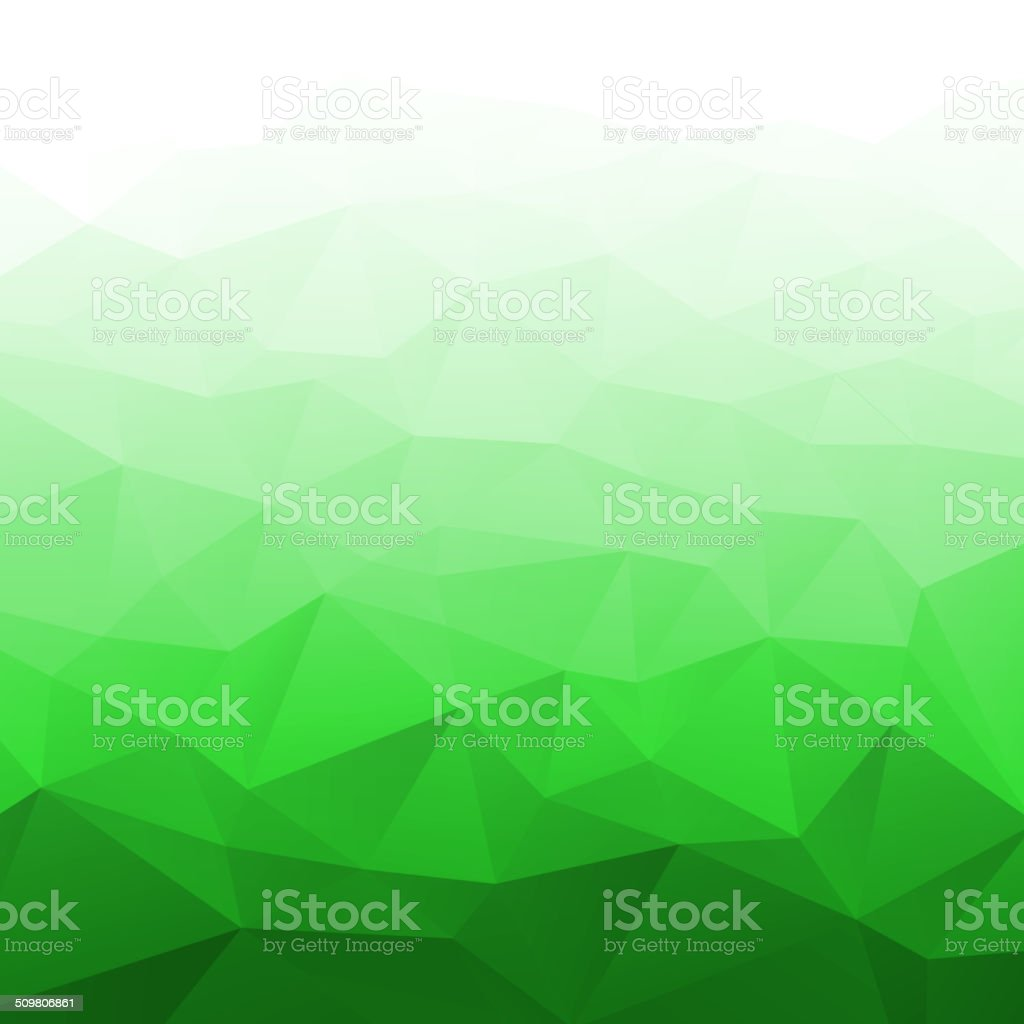 Abstract Gradient Bright Green Geometric Background. vector art illustration