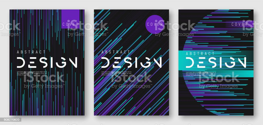 Abstract gradient geometric cover designs vector art illustration