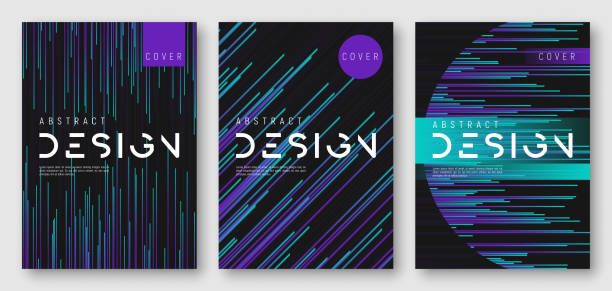 abstract gradient geometric cover designs - invitations templates stock illustrations