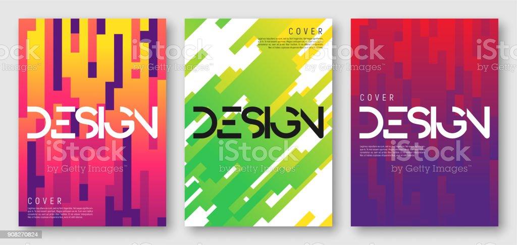 Conceptions de couverture géométrique dégradé abstract - Illustration vectorielle