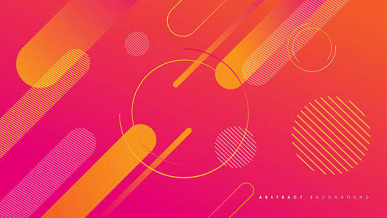 Abstract Gradient Geometric Shape Background