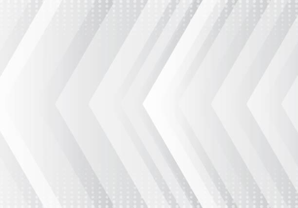 abstrakcyjny gradient szary i biały wzór strzałek technologia futurystyczna koncepcja tła z teksturą półtonu - ruch stock illustrations