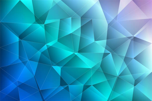 abstract gradient low polygonal background. polygon design concept. vector illustration. - angle stock illustrations