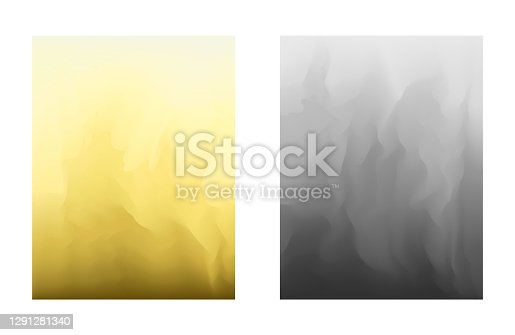 Abstract vibrant illuminating yellow and ultimate gray gradient colors backgrounds for fashion flyer, brochure design. Set of soft, trendy vivid wallpaper for mobile apps, ui design, banner, poster