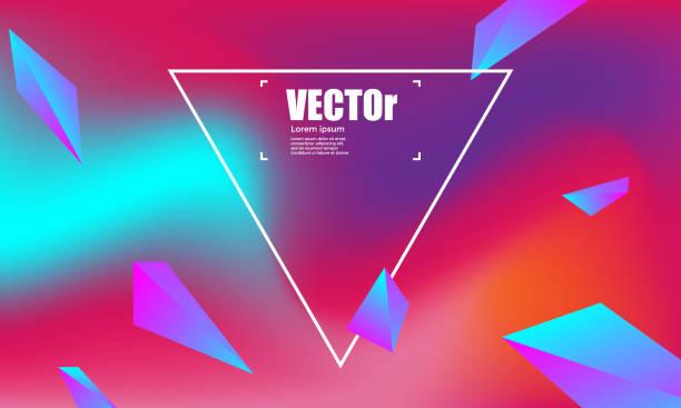 abstrakte farbverläufe geometrischen hintergrund. bunte vektor-illustration - edm stock-grafiken, -clipart, -cartoons und -symbole