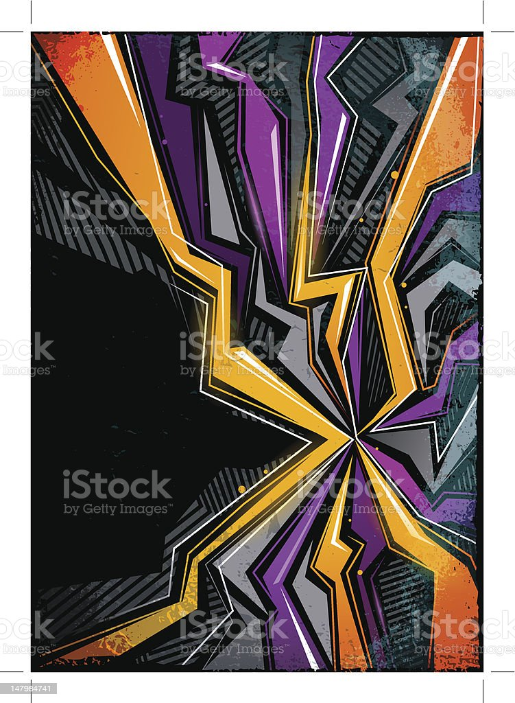 Abstract graffiti background royalty-free stock vector art