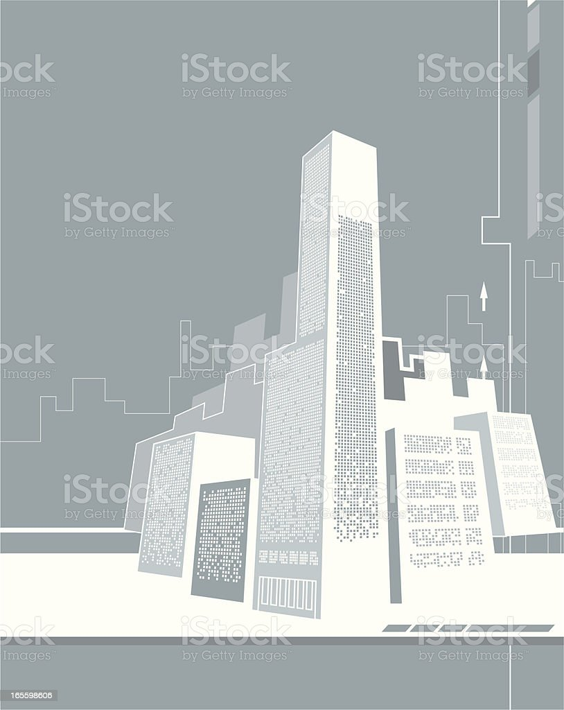 Abstract Graphic - City royalty-free stock vector art