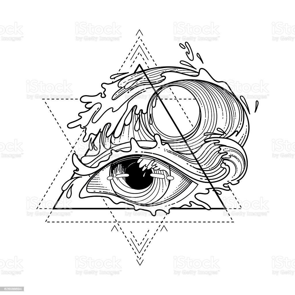 Abstract Graphic Eye Stock Vektor Art Und Mehr Bilder Von
