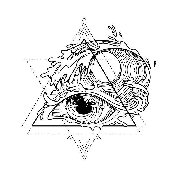 abstract graphic eye - マリンのタトゥー点のイラスト素材/クリップアート素材/マンガ素材/アイコン素材