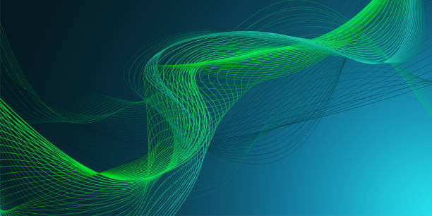 abstract graphic wave background - sine wave stock illustrations