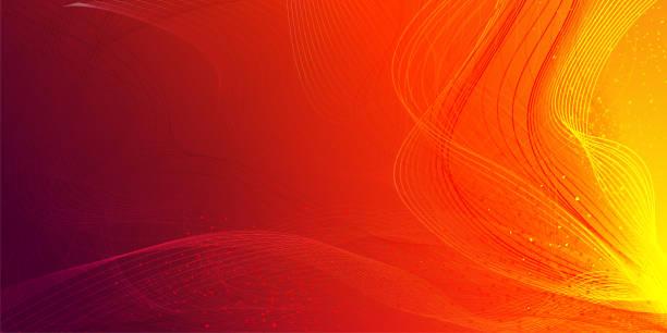 ilustrações de stock, clip art, desenhos animados e ícones de abstract graphic wave background - vr red background