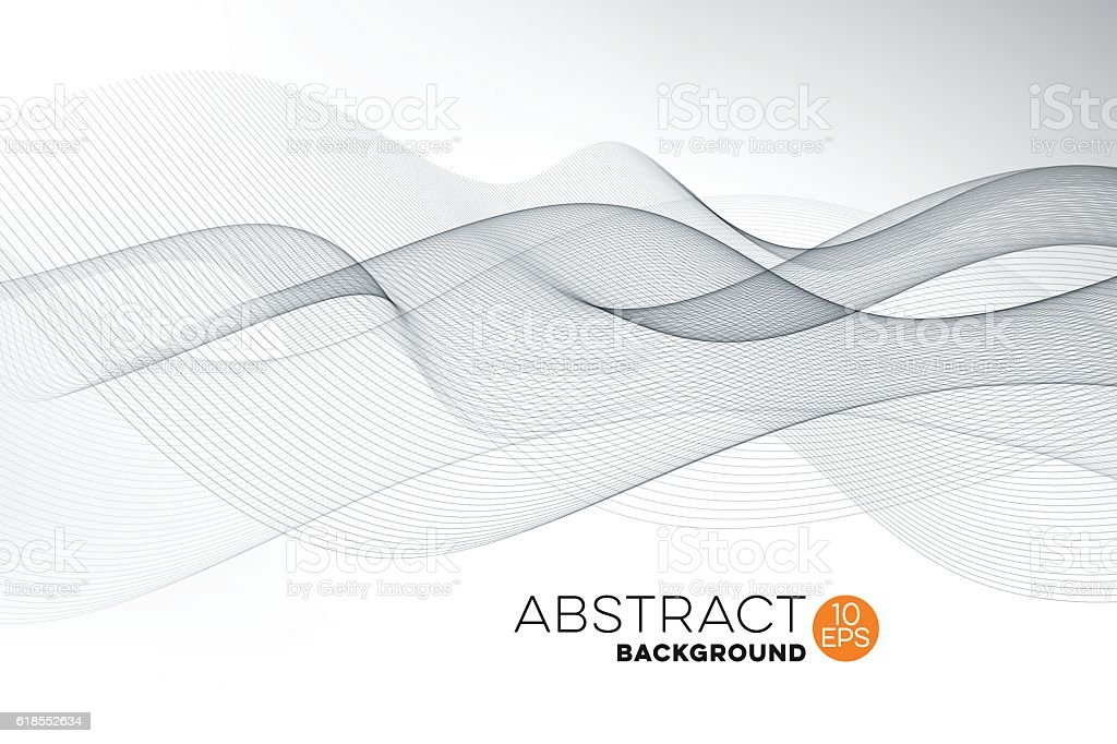 Abstract Graphic Wave Background vector art illustration