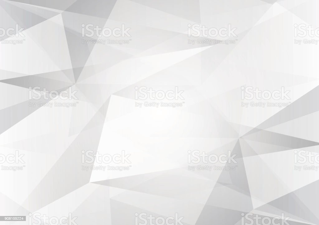 Abstract gray and white color low poly, vector background illustration with copy space vector art illustration