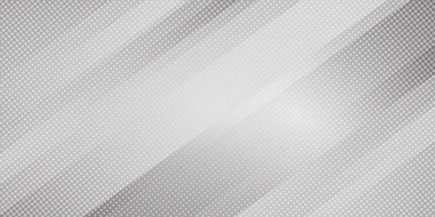 Abstract gray and white gradient color oblique lines stripes background and dots texture halftone style. Geometric minimal pattern modern sleek texture Abstract gray and white gradient color oblique lines stripes background and dots texture halftone style. Geometric minimal pattern modern sleek texture. Vector illustration diagonal stock illustrations