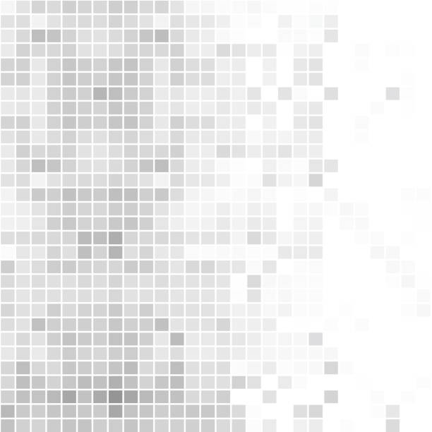 Abstract gray background of squares Square,  Geometric texture, Halftone effect, Background, Vector bad condition stock illustrations