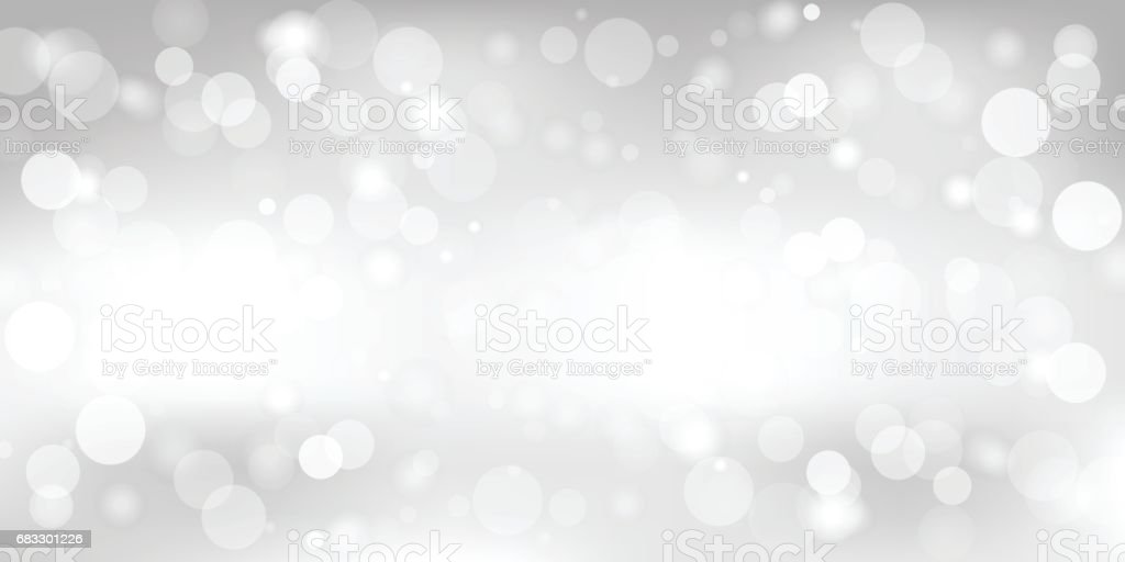 Abstract gray background with a white light blur. Vector