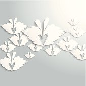 abstract gray butterfly pattern background for design.(ai eps10 with transparency effect)
