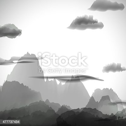 istock abstract gray chinese painting pattern background 477737434