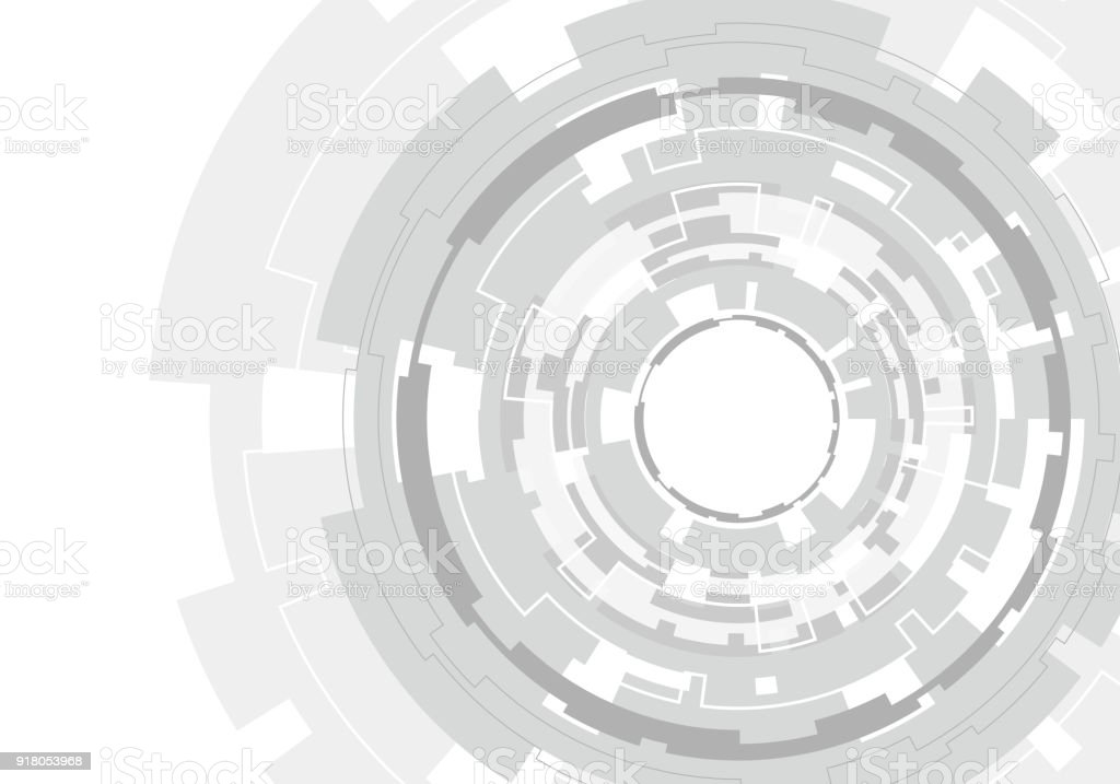 Ilustración de Abstracto Grises Círculo Polígono Línea Tecnología ...