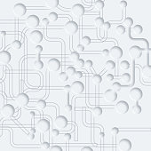 3D abstract gray circuit board pattern background.(ai eps10 with transparency effect)