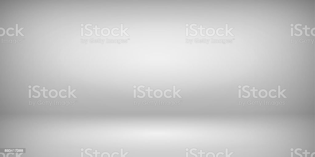 Abstract gray empty room studio gradient used for background and display your product. Vector vector art illustration