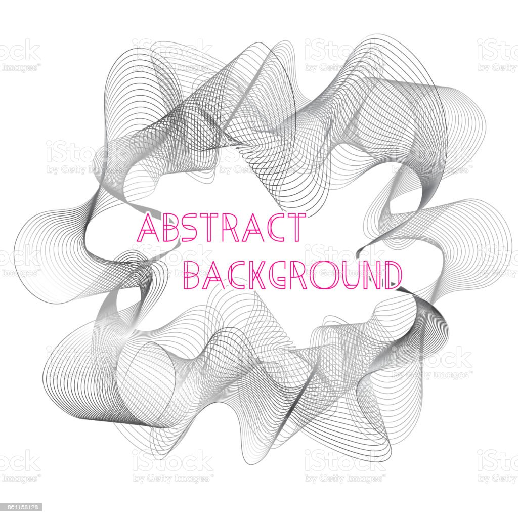 Abstract gray flowing wavy lines rounded frame royalty-free abstract gray flowing wavy lines rounded frame stock vector art & more images of abstract