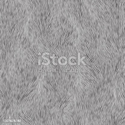 istock Abstract gray fur pattern. Vector seamless background 1207678782
