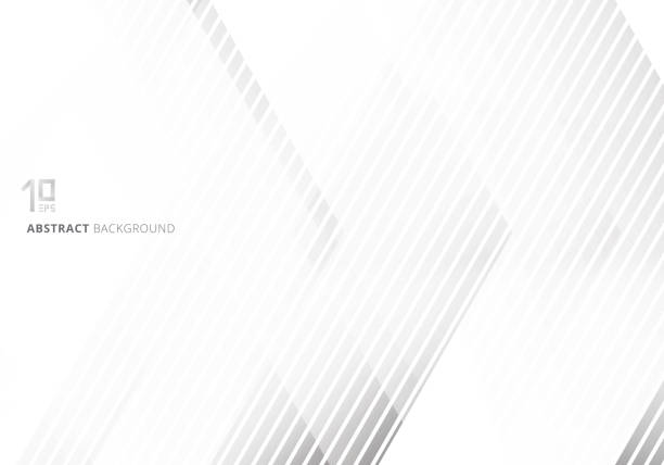 abstract gray geometric on white background and texture technology concept style. - monochrom stock illustrations