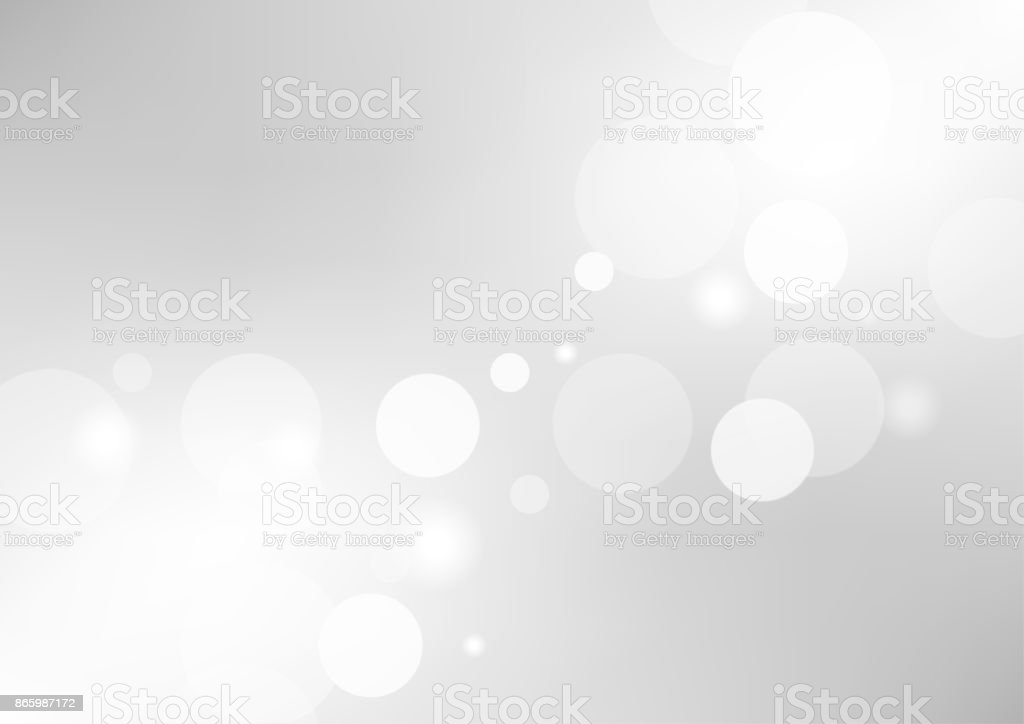 Abstract gray gradient background with a soft white light blur. Vector illustration