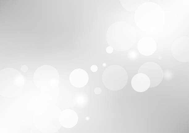 abstract gray gradient background with a soft white light blur. vector illustration - szare tło stock illustrations