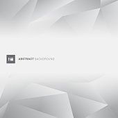 Abstract gray low polygon trendy style with space for text. Geometric grey color polygons background. Vector illustration