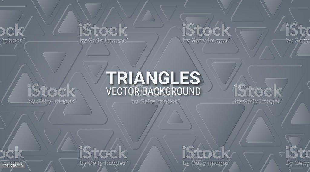 Abstract gray metallic background. Interlacing of geometric figures. Triangles with rounded corners. Soft color tone. Shadow and glow. Template for websites, brochures, posters. royalty-free abstract gray metallic background interlacing of geometric figures triangles with rounded corners soft color tone shadow and glow template for websites brochures posters stock vector art & more images of abstract
