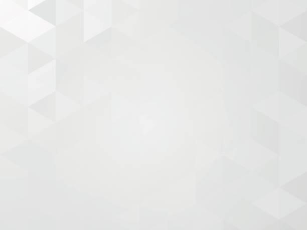 abstract gray mosaic geometric background - szare tło stock illustrations