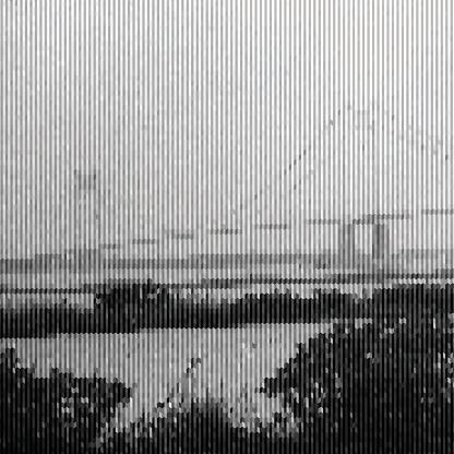 abstract gray stripe style bridge pattern background